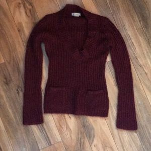 royal purple knitted sweater.